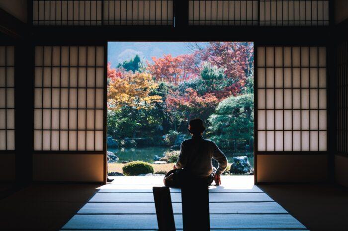 silhouette of man near outside